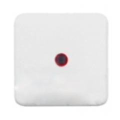 Клавиша 1Х с красной линзой, белая, Regina