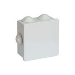 Коробка ответвительная квадратная с кабельными вводами, IP44, 80х80x40мм