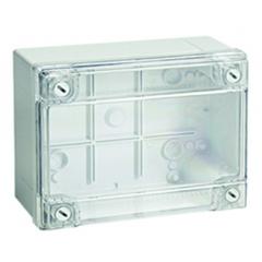 Коробки ответвительные с гладкими стенками и низкой прозрачной крышкой, IP56, 120х80х50 мм