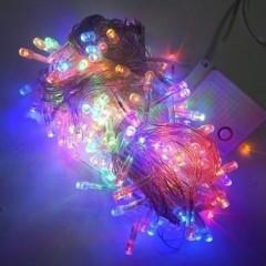 Новогодняя гирлянда Нить LED 240, мульти, прозрачный провод