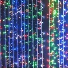 Новогодняя гирлянда Водопад LED 240, мульти