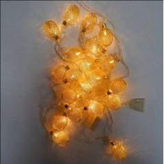 Новогодняя гирлянда Овал средний сетка Золото LED 20