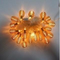 Новогодняя гирлянда Пружина Золото LED 20
