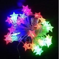 Новогодняя гирлянда Звездочки Led 28, мульти