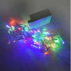 Новогодняя гирлянда Нить LED 60 мульти, прозрачный провод