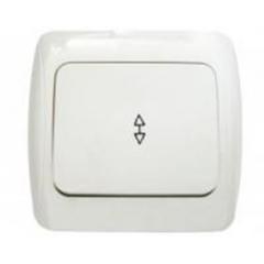 Выключатель одноклавишный проходной, 10А/250В